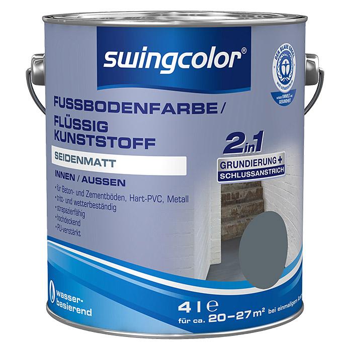 swingcolor Fussbodenfarbe/ Flüssigkunststoff 2in1 RAL 7031