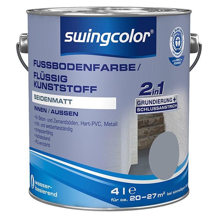 swingcolor Fussbodenfarbe/ Flüssigkunststoff 2in1 RAL 7001
