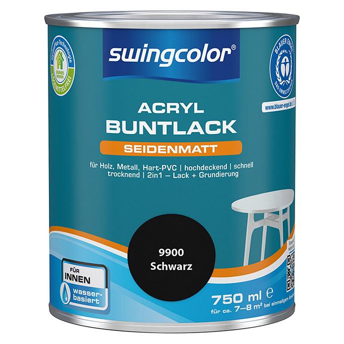 swingcolor Acryl Buntlack Schwarz seidenmatt