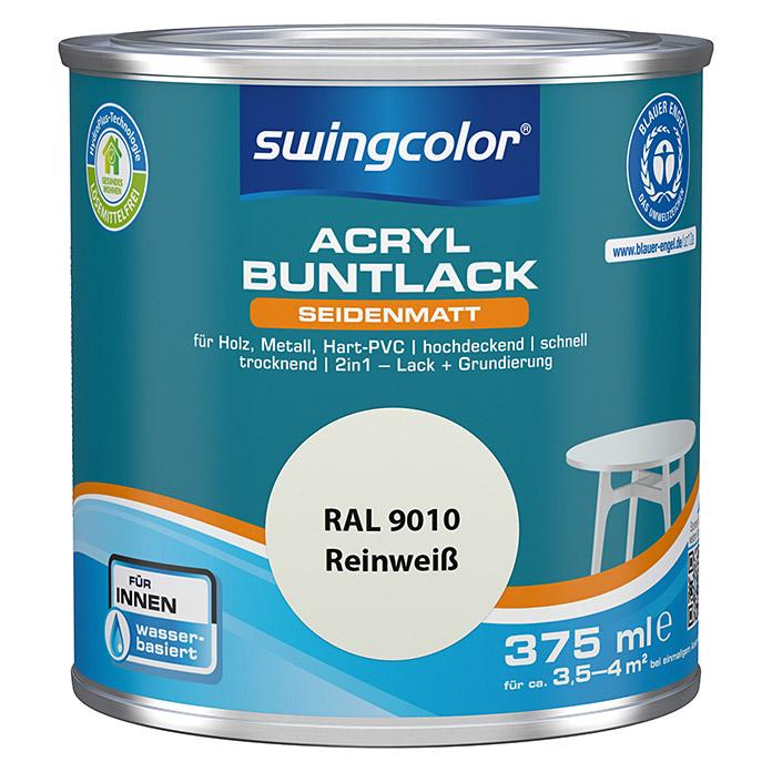swingcolor peinture acrylique blanc pur satinée