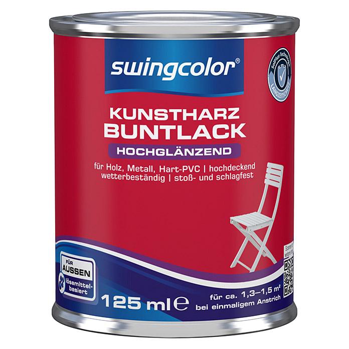 swingcolor Kunstharz Buntlack Reinweiss hochglänzend