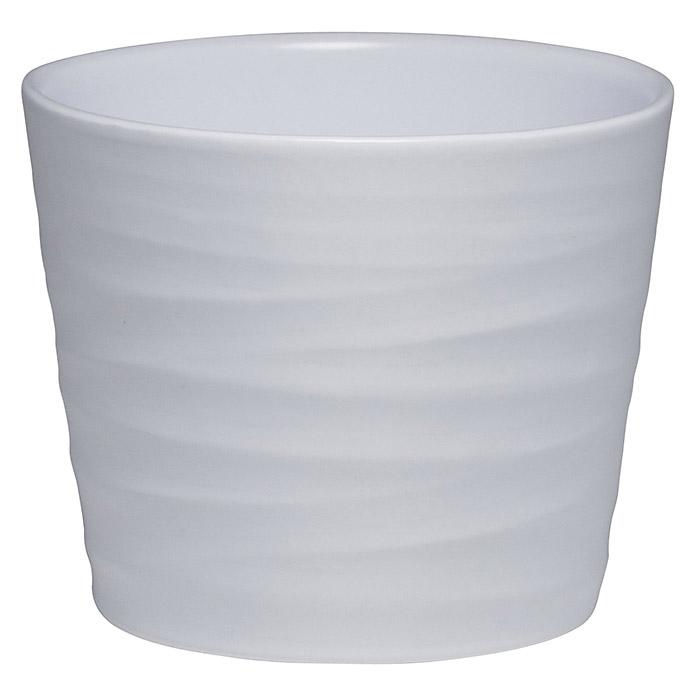 Wave Pot Céramique 17 cm Blanc Mat