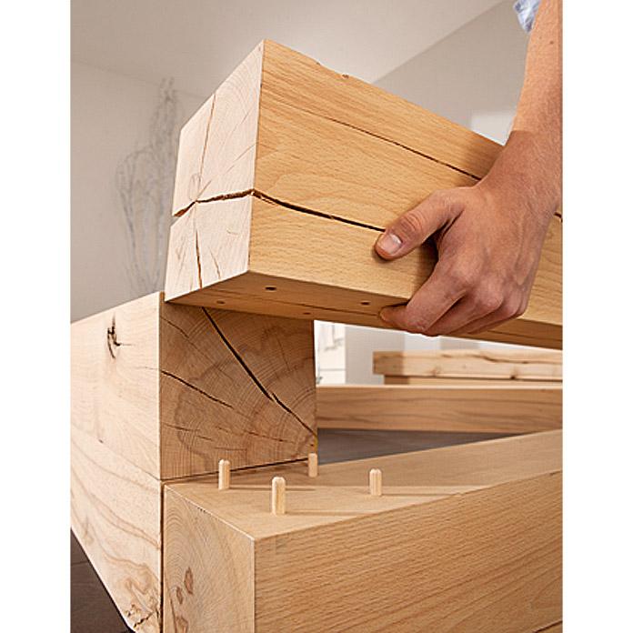 Massiv Blox Holzbalken 600 x 150 x 150 mm