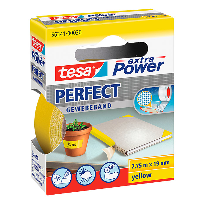 tesa extra Power Gewebeband PERFECT Gelb