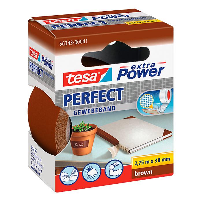 tesa Ruban adhésif en tissu extra Power PERFECT brun