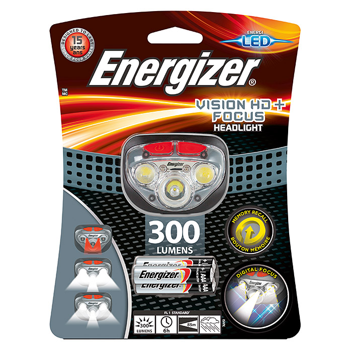 Lampe frontale ENERGIZER® LED Vision HD+ Focus