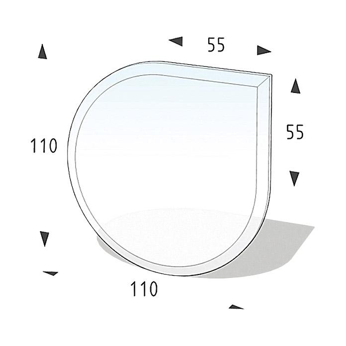 LIENBACHER Glasbodenplatte Tropfen