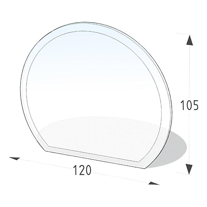 LIENBACHER Plaque de sol en verre demi-cercle