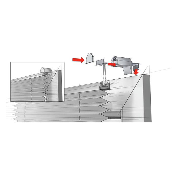Plissee EasyFix Weiss 70 x 130 cm
