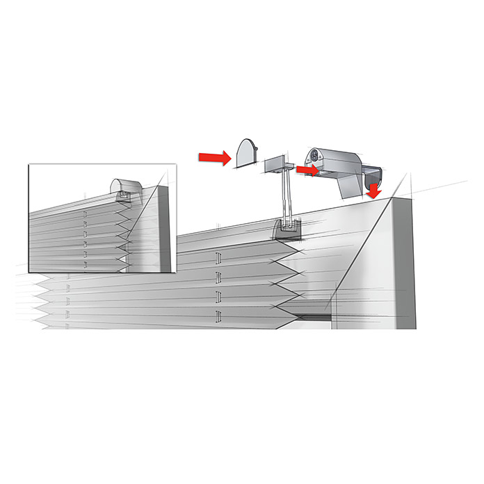 Plissee EasyFix Schiefer 65 x 130 cm