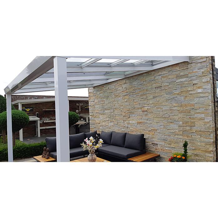 Special Edition Toiture de terrasse avec toit coulissant 4 x 3.5 m