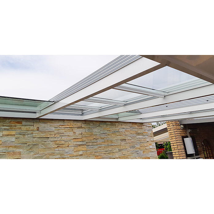 Special Edition Toiture de terrasse avec toit coulissant 6 x 3 m
