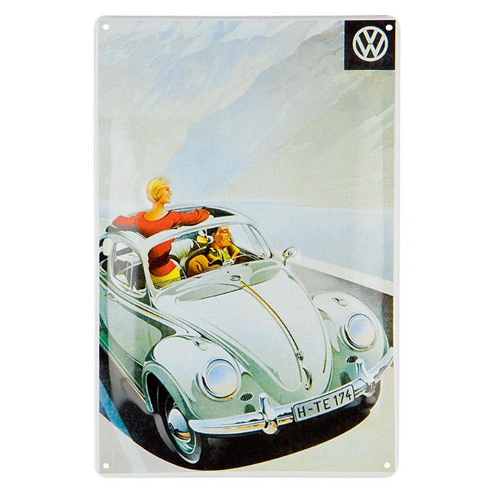 Panneau publicitaire en métal Volkswagen