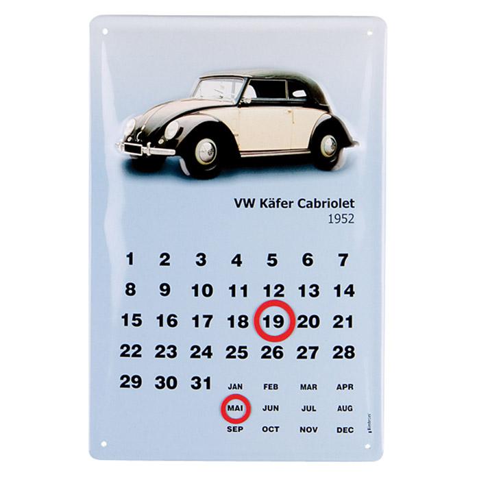 Werbeblechschild VW Cabrio