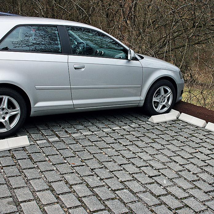 Auto-Stopp Weiss