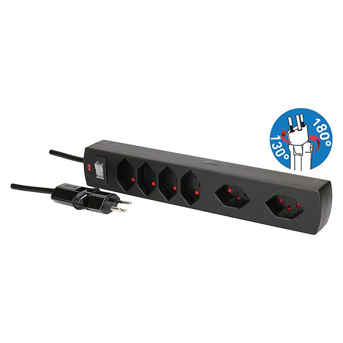 Steckdosenleiste Safety Line 6 Clip-Clap
