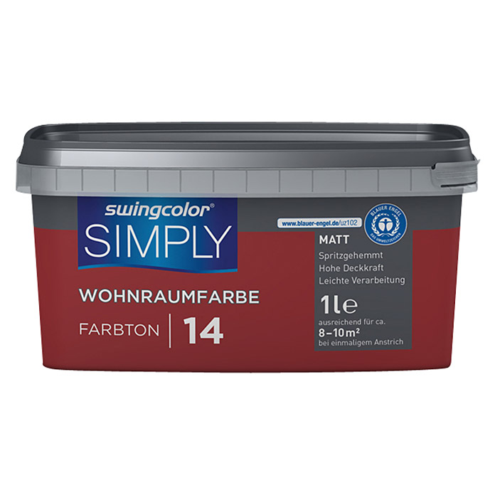 swingcolor Wohnraumfarbe SIMPLY 14 Rot