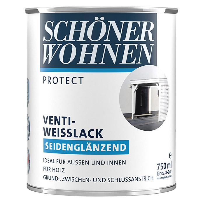 SCHÖNER WOHNEN PROTECT Venti-Weisslack seidenglänzend