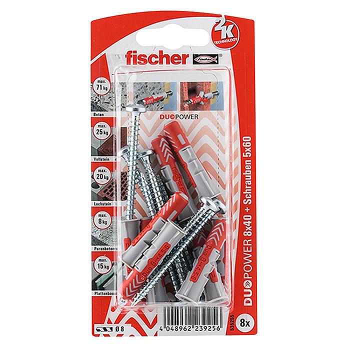 fischer Dübel- & Schraubenbox Duopower Ø x L: 8 x 40 mm