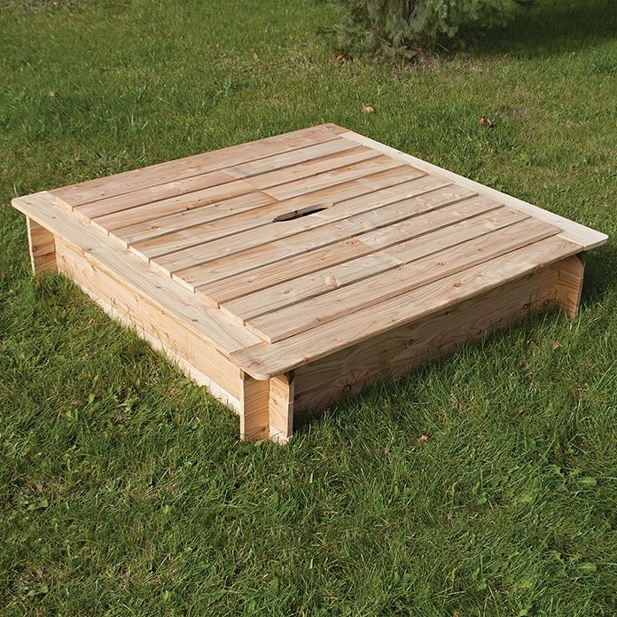 bac sable avec couvercle en bois acheter chez bauhaus. Black Bedroom Furniture Sets. Home Design Ideas